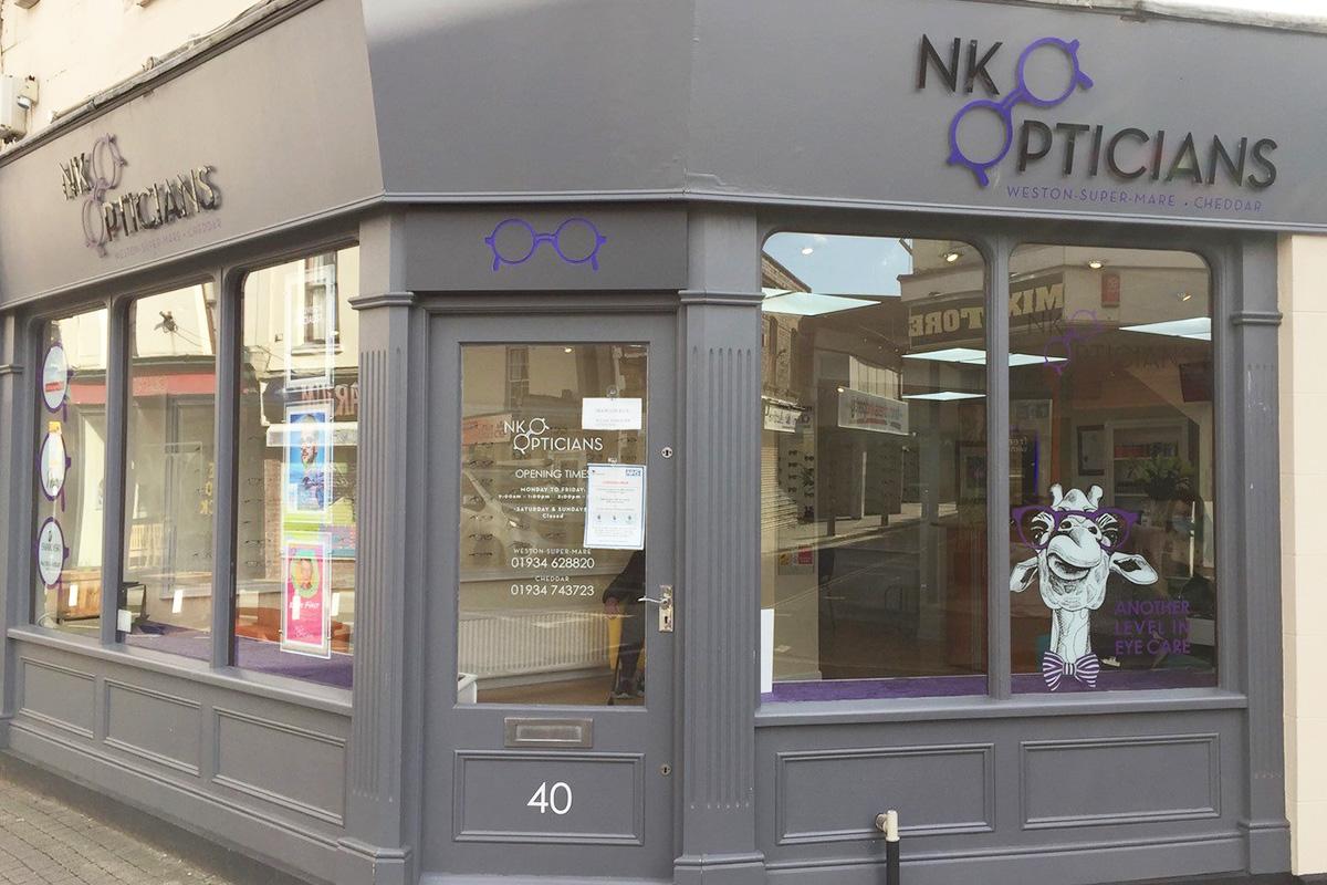 NK Opticians Weston super Mare